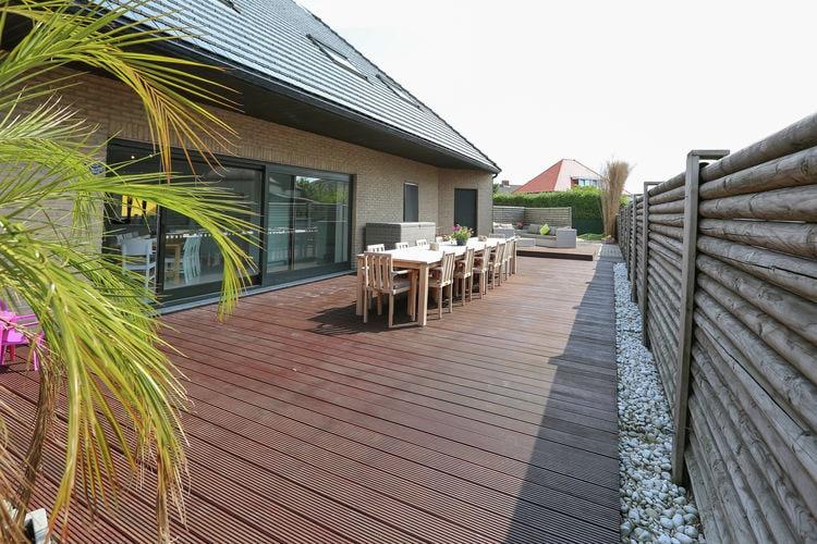 MIDDELKERKE Vakantiewoningen te huur Rustig gelegen, vrijstaande groepsvilla met sauna en jacuzzi, op 500 m. van zee