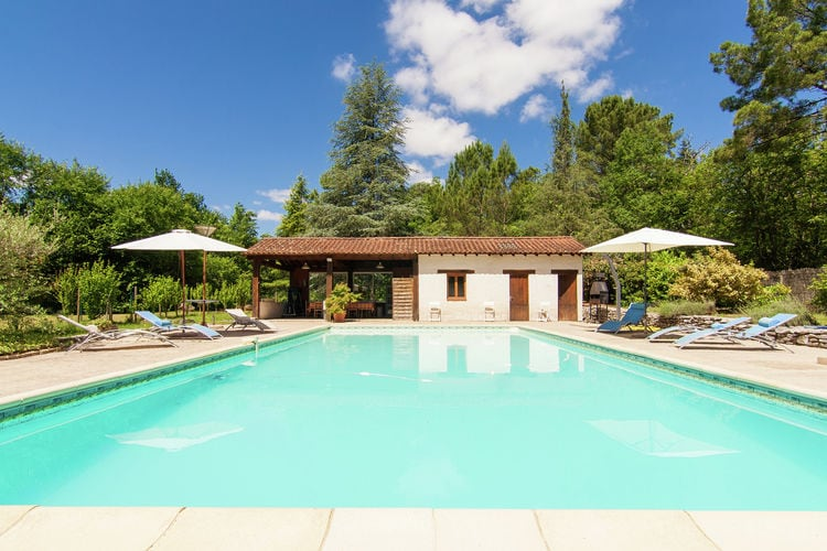 Vakantiehuis met zwembad met wifi  DordogneMétairie du Vignaud 16P