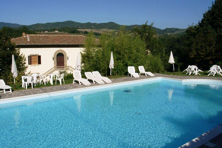 Oude Medici-villa met privé zwembad en uitzicht op de heuvels van Mugello