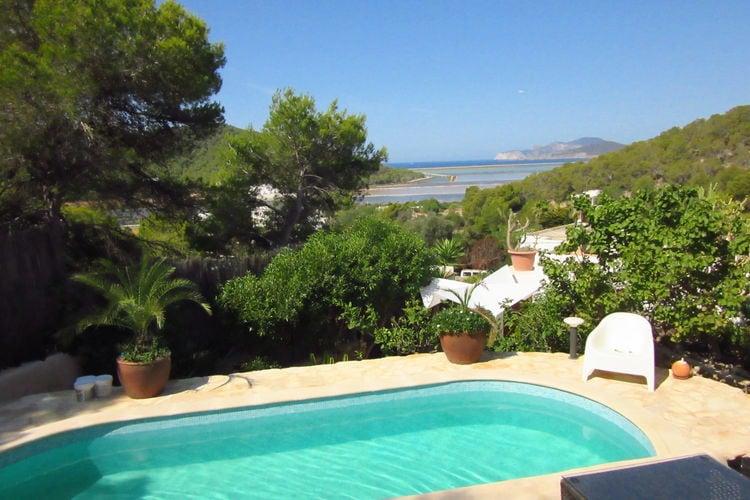 Vakantiehuizen Spanje | Ibiza | Vakantiehuis te huur in Ses-Salinas-de-san-Jordi met zwembad  met wifi 8 personen