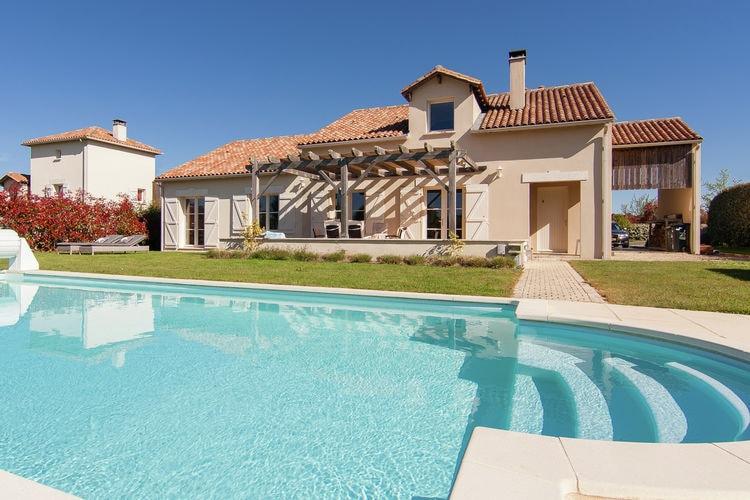 Vakantiehuizen Frankrijk | Dordogne | Villa te huur in Ecuras-Rouzede met zwembad  met wifi 8 personen
