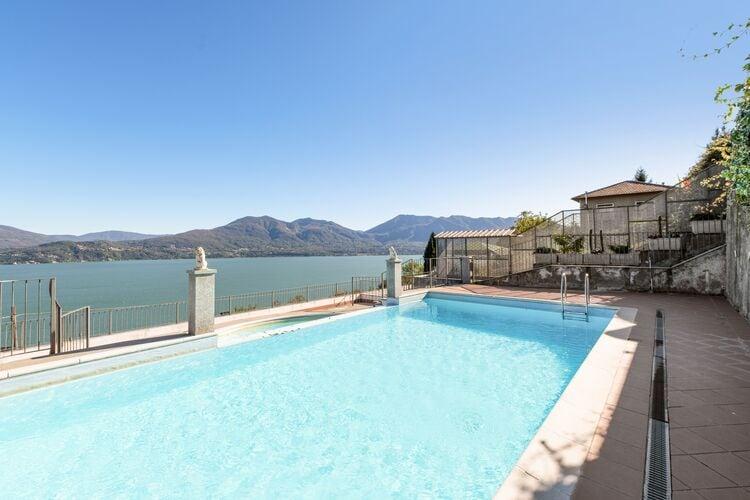 Vakantiehuizen Italie | Italiaanse-Meren | Appartement te huur in Oggebbio met zwembad   6 personen