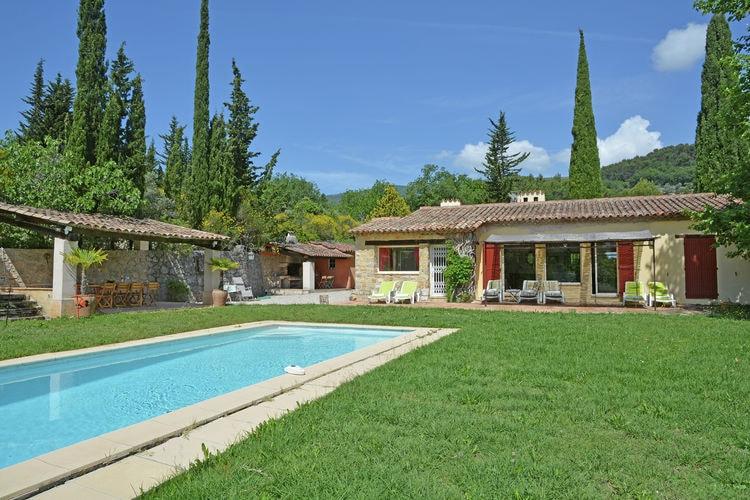 Fayence Vakantiewoningen te huur Kindvriendelijke airconditioned villa; verwarmbaar privézwembad, speeltoestellen