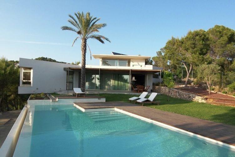 Vakantiehuizen Spanje | Ibiza | Villa te huur in Cala-Salada met zwembad  met wifi 10 personen