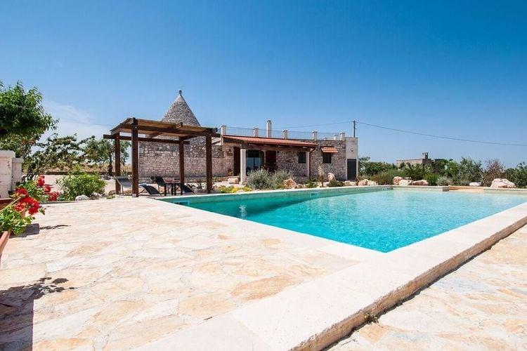 Puglia Vakantiewoningen te huur Midden tussen de olijfbomen met privé zwembad, wat wil je nog meer?