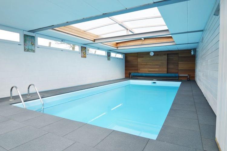 Goesnes Vakantiewoningen te huur Mooi en zeer goed ingericht huis met een binnenzwembad, een jacuzzi en terras