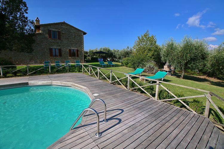 Mooie vakantiewoning gelegen op een landgoed met zwembad nabij Perugia