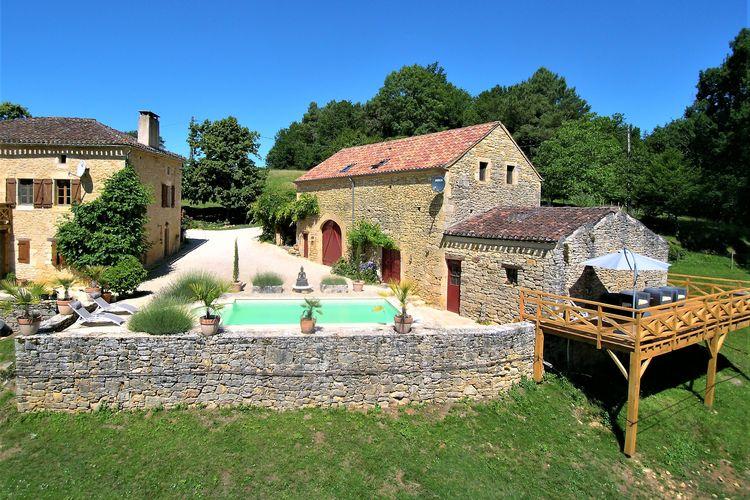 Frankrijk | Dordogne | Vakantiehuis te huur in Montcabrier met zwembad  met wifi 4 personen