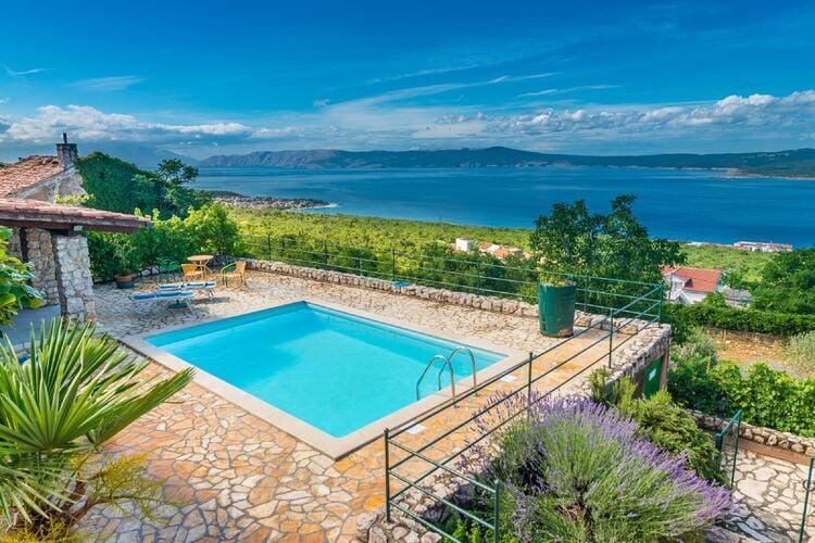 Villa met zwembad met wifi  KvarnerMilka