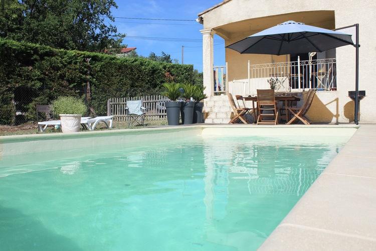 Languedoc-Roussillon Vakantiewoningen te huur Airconditioned villa met privézwembad en omheinde tuin in de Gard bij de Ardèche