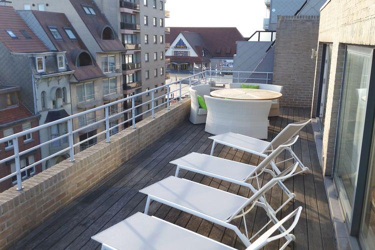 MIDDELKERKE Vakantiewoningen te huur Prachtig gelegen penthouse met vanaf terras uitzicht op het strand van Middelkerke