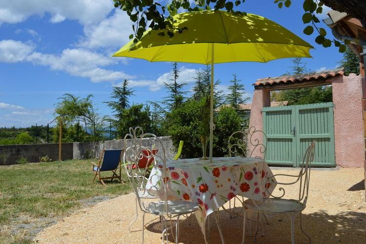 Ardeche Vakantiewoningen te huur Klein, schattig vakantiehuisje met grote tuin, aan de rand van gezellig dorpje