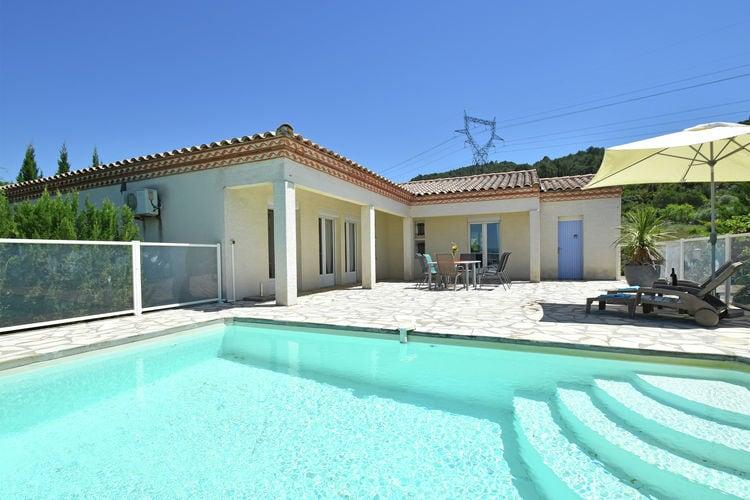 Languedoc-Roussillon Vakantiewoningen te huur Luxe villa met privézwembad, airconditioning en weids uitzicht