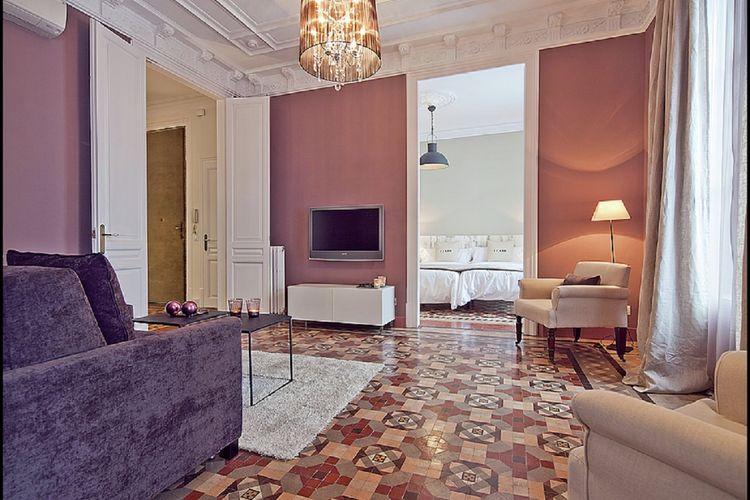 Costa de Barcelona Vakantiewoningen te huur Luxe gerenoveerd appartement voor 6 personen in het centrum van Barcelona