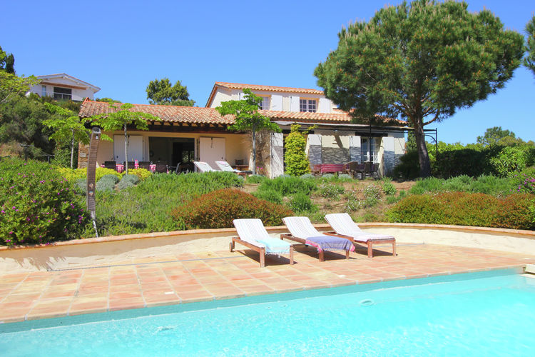 Villas Frankrijk | Provence-alpes-cote-d-azur | Villa te huur in La-Croix-Valmer met zwembad  met wifi 10 personen
