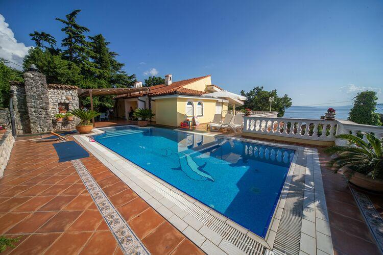 Kroatie | Kvarner | Villa te huur in Kostrena met zwembad  met wifi 5 personen