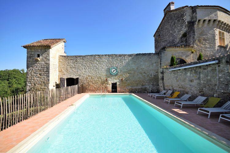Vakantiehuizen Frankrijk | Midi-Pyrenees | Kasteel te huur in Bon-Encontre met zwembad  met wifi 28 personen