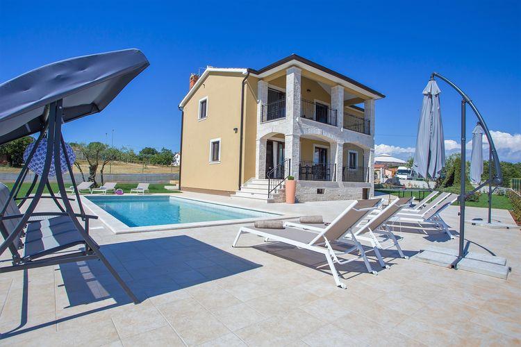 Kroatie | Istrie | Villa te huur in Montizana met zwembad  met wifi 8 personen
