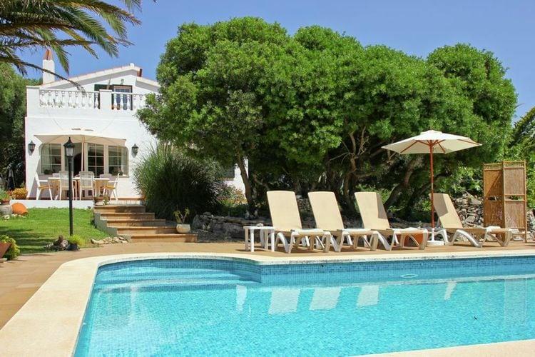 Vakantiehuizen Spanje | Men | Villa te huur in Alaior met zwembad  met wifi 8 personen