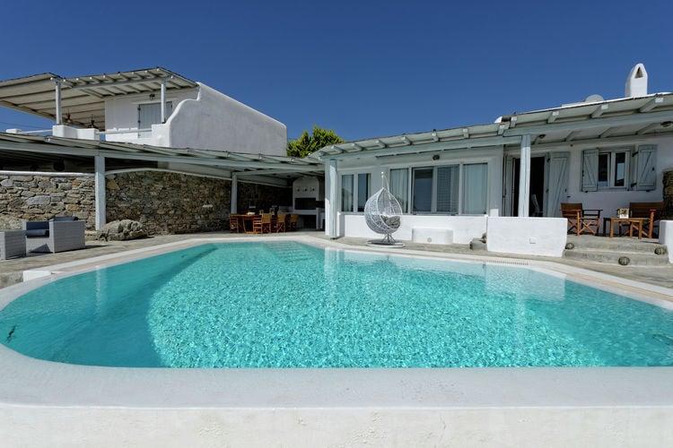 Villa met zwembad met wifi  Mykonos  Mooie grote luxe villa, privé zwembad, prachtig uitzicht, dichtbij zee, Mykonos