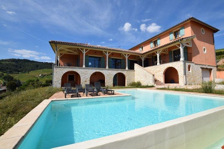 Vakantiehuizen Ardeche te huur Chiroubles- FR-69115-02 met zwembad  met wifi te huur