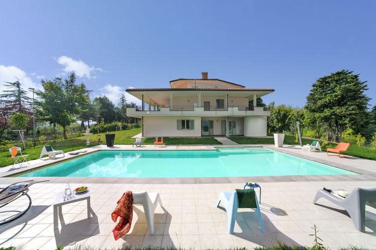 Vakantiehuizen Italie | Marche | Villa te huur in Tavullia met zwembad  met wifi 6 personen