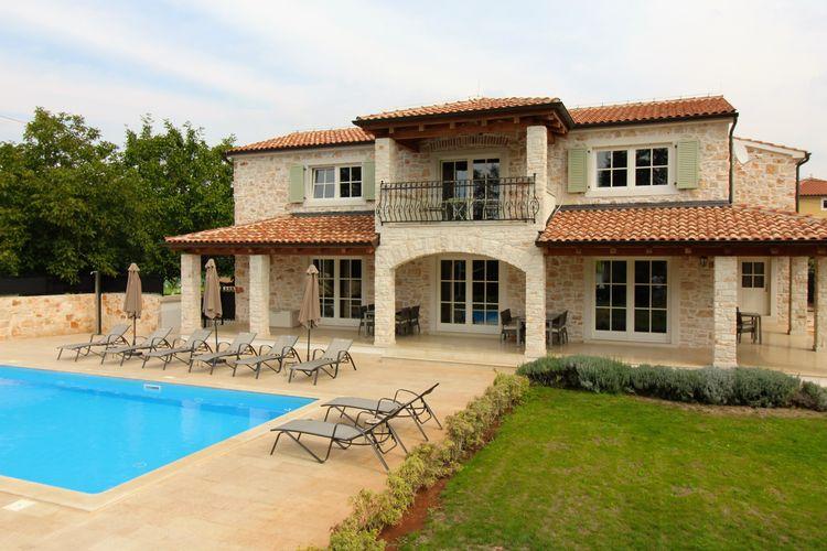 Kroatie | Istrie | Villa te huur in Brtonigla met zwembad  met wifi 11 personen
