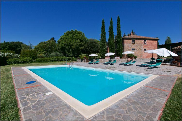Boerderij met zwembad met wifi  CortonaLeccio
