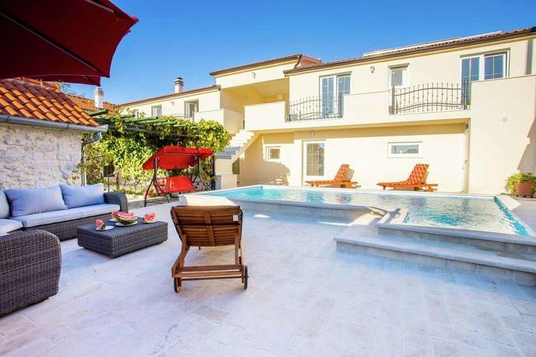 Kroatie | Dalmatie | Villa te huur in Zapuzane met zwembad  met wifi 14 personen