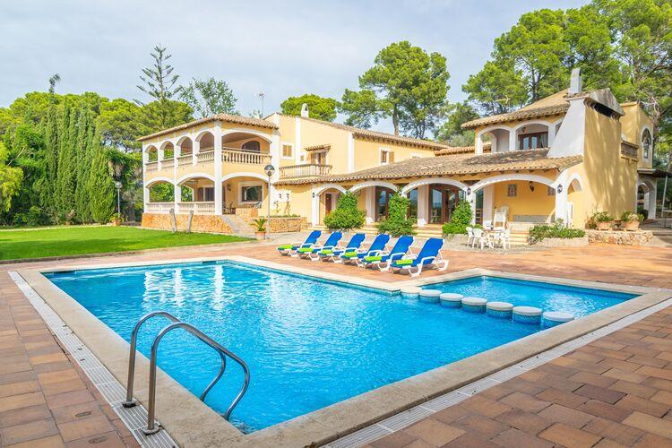 Vakantiehuizen Spanje | Mallorca | Villa te huur in Palma-De-Mallorca-Sant-Jordi-Illes-Balears met zwembad  met wifi 12 personen