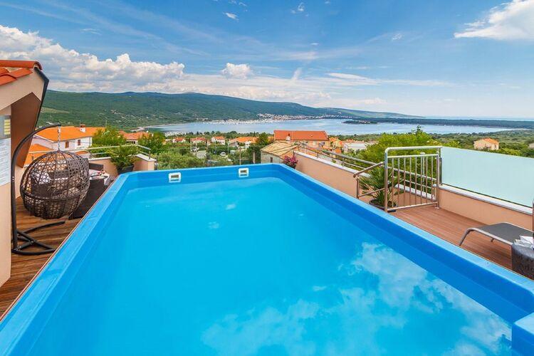 Villa Kroatië, eld, Kornić -Krk Villa HR-00002-17