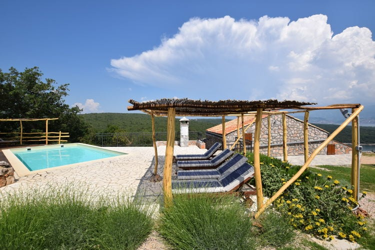 Kroatie | Eld | Vakantiehuis te huur in Vrbnik met zwembad  met wifi 8 personen