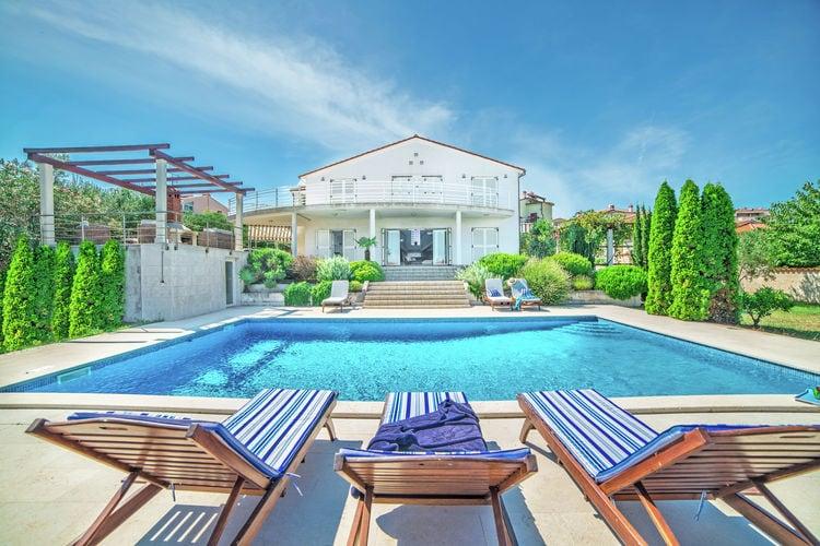 Kroatie | Istrie | Villa te huur in Liznjan met zwembad  met wifi 9 personen