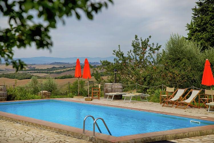 Vakantiehuizen Italie | Toscana | Villa te huur in Trequanda met zwembad  met wifi 10 personen