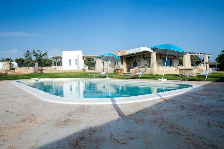 Vakantiehuizen Italie | Puglia | Villa te huur in Torre-Suda met zwembad  met wifi 11 personen
