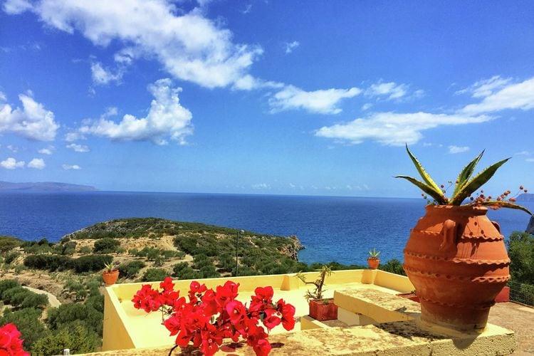 Appartement huren in  Griekenland -  nabij Strand met wifi  voor 4 personen  Vanaf de stad Agios Nikolaos, na e..