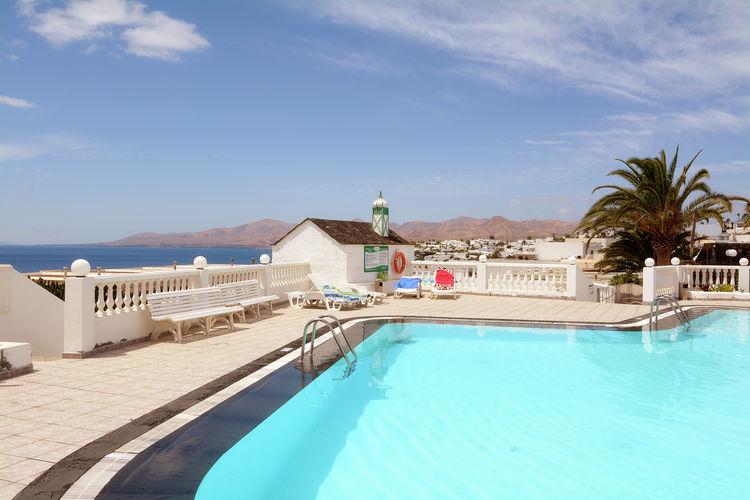 Spanje | Lnzt | Appartement te huur in Puerto-del-Carmen met zwembad  met wifi 2 personen