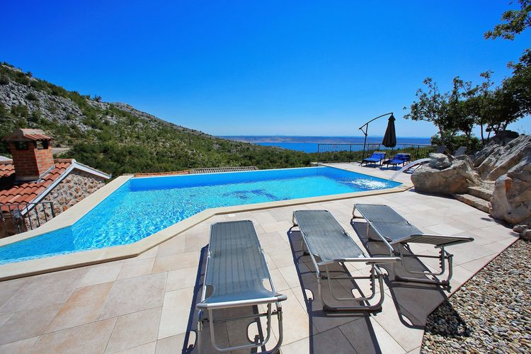 Vakantiehuis met zwembad met wifi  Starigrad - Paklenica  Prachtige villa dicht bij zee in Starigrad met privézwembad