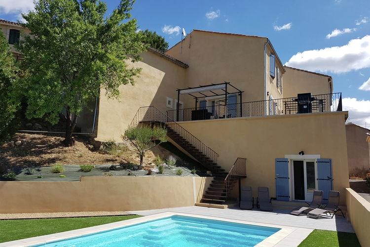 Villa met zwembad met wifi  MontouliersMaison Piscine Village Vue Imprenable
