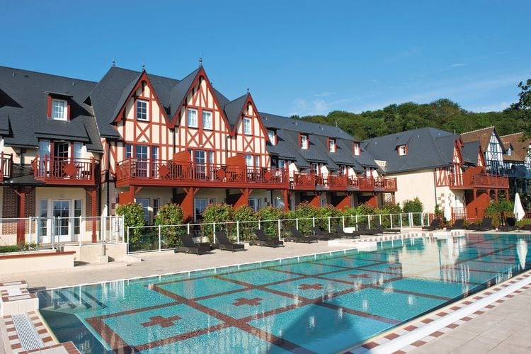 Frankrijk | Normandie | Vakantiehuis te huur in Houlgate met zwembad  met wifi 4 personen