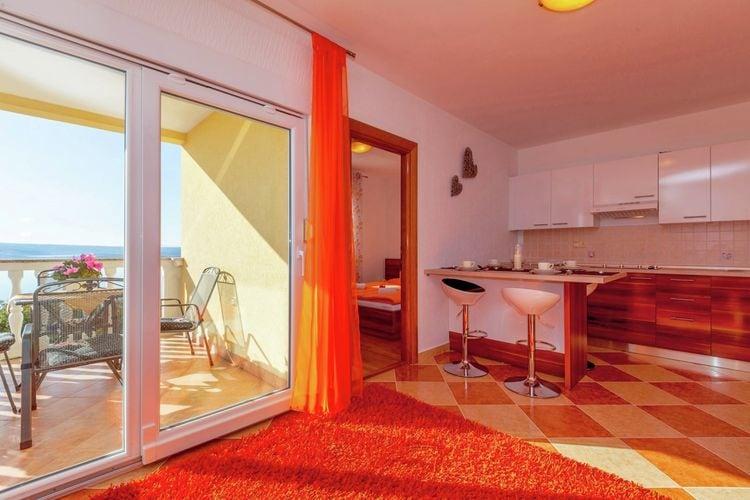 Vakantiehuizen Kroatie | Kvarner | Appartement te huur in Dramalj met zwembad  met wifi 2 personen
