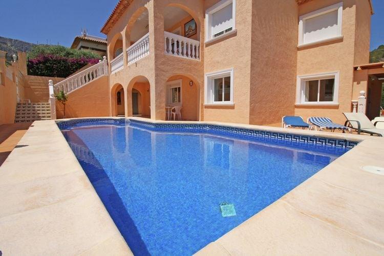 Vakantiehuizen Spanje | Costa-Blanca | Vakantiehuis te huur in Calpe   met wifi 6 personen