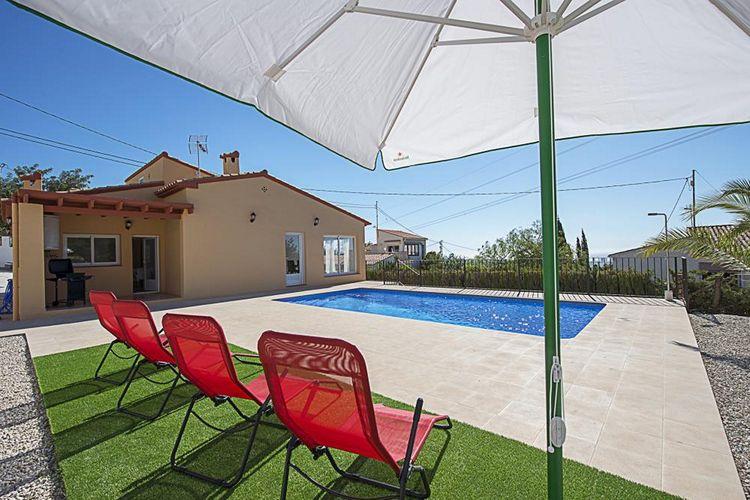 Vakantiehuis met zwembad met wifi aan zee Costa BlancaPuerto Roca