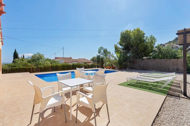 Spanje | Costa-Blanca | Vakantiehuis te huur in Calpe met zwembad aan zee met wifi 6 personen