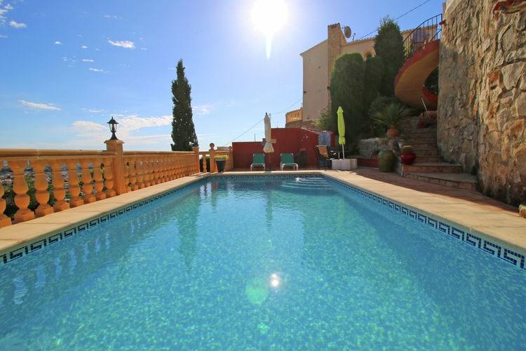 Spanje | Costa-Blanca | Vakantiehuis te huur in Calpe  aan zee met wifi 6 personen