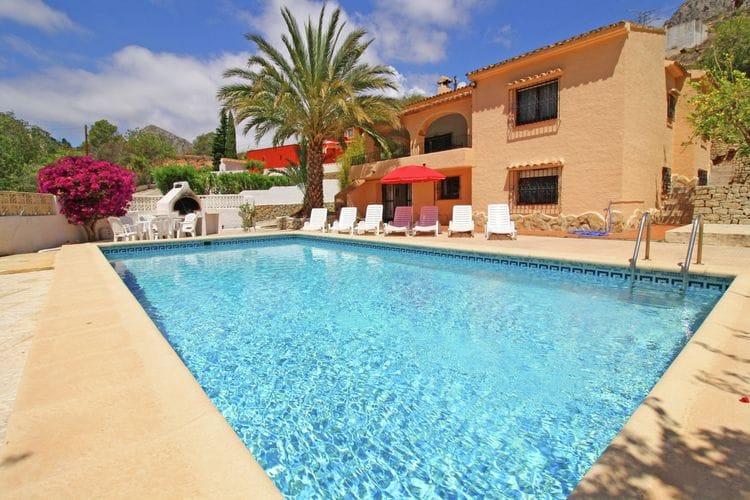 Vakantiehuizen Spanje | Costa-Blanca | Villa te huur in Calpe met zwembad  met wifi 10 personen