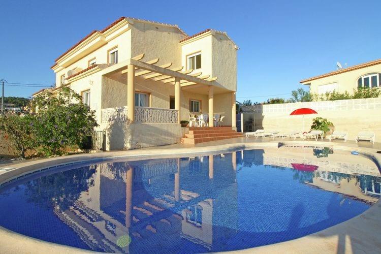 Vakantiehuis met zwembad met wifi aan zee Costa BlancaVilla Eike
