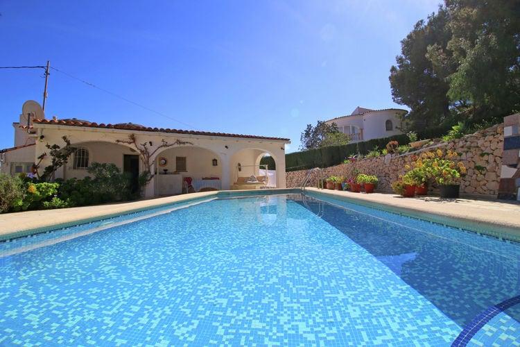 Vakantiehuizen Spanje | Costa-Blanca | Vakantiehuis te huur in Calpe met zwembad  met wifi 4 personen