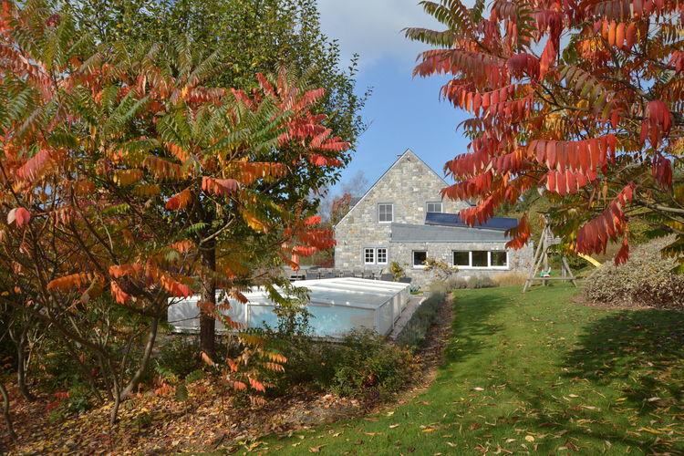 Stavelot Vakantiewoningen te huur Luxe villa in de buurt van Francorchamps met buitenzwembad, jacuzzi en IR sauna