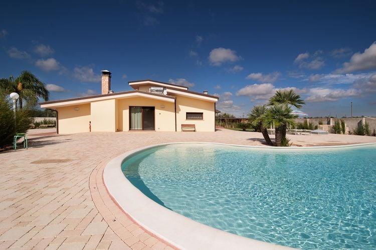 Vakantiehuizen Italie | Puglia | Vakantiehuis te huur in Melissano met zwembad  met wifi 12 personen